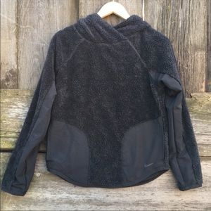 Nike women's Sherpa thermal fleece hoodie size xs